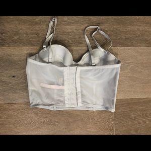 Victoria's Secret metallic silver boustier corset
